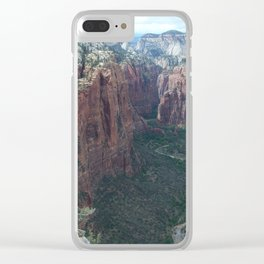 Angels Landing, Zion National Park Clear iPhone Case