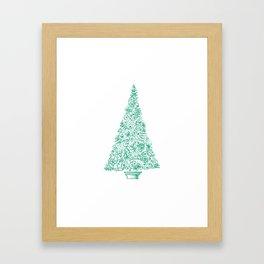 green Christmas tree in New Zealand Framed Art Print