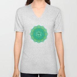 Heart - Anahata  Chakra Symbol Unisex V-Neck