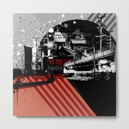 CMYK Triptych - Magenta Metal Print