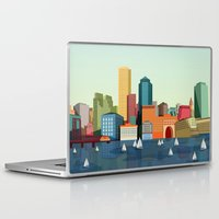 boston Laptop & iPad Skins featuring Boston  by GoFe