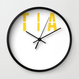 TIA - Tampa International Airport - Florida Airport Code Souvenir or Gift Design  Wall Clock