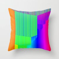 pivot Throw Pillows featuring R Experiment 5 (quicksort v3) by X's gallery
