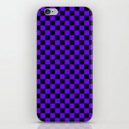 Black and Indigo Violet Checkerboard iPhone Skin