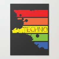 techno Canvas Prints featuring Techno by Adnan Kostic
