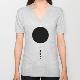 The Solar System (white) Unisex V-Neck
