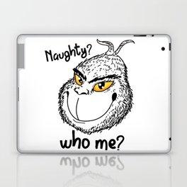 Naughty Grinch Who Me Christmas Present funny Laptop & iPad Skin