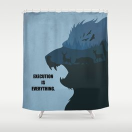 Lab No.4 -Execution Is Everything Quotes poster Shower Curtain