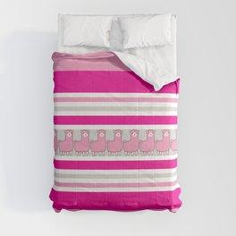 Llama Stripe / Pink Llama Striped Comforters