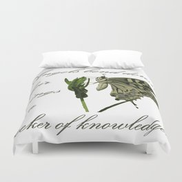 Angels Bend Down Their Wings To A Seeker Of Knowledge Duvet Cover