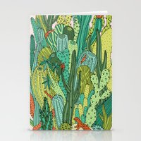 cacti Stationery Cards featuring Cacti by Gaby D'Alessandro