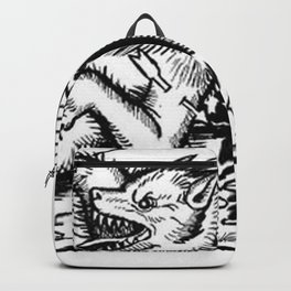 Werewolf Hunting medieval style Backpack