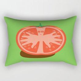 Tomato Guy Rectangular Pillow