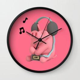 Rosa the Pig Walkman Wall Clock