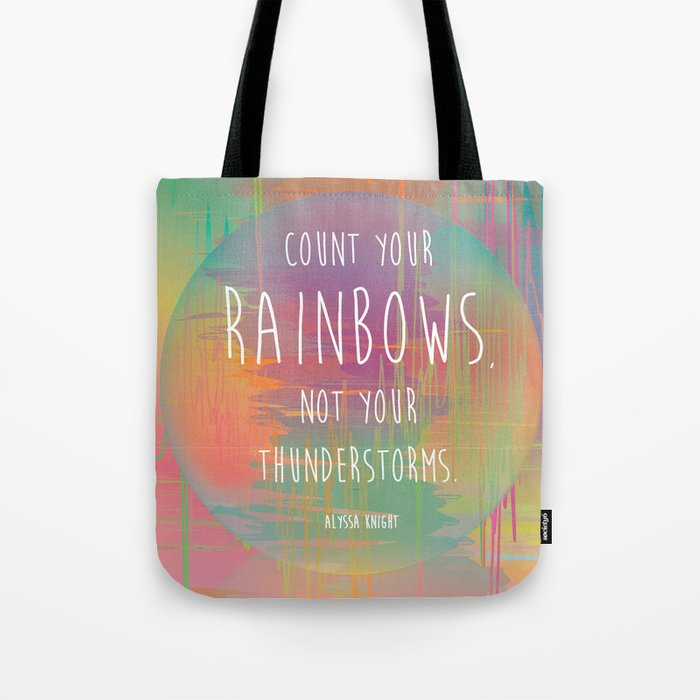 Count your Rainbows Tote Bag