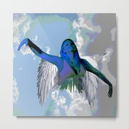 My Angel is a girl   Christmas Angel Spirit Metal Print