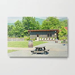 Little Shanty In The Hills Metal Print