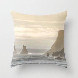 Reynisdrangar. Throw Pillow