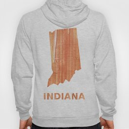 Indiana map outline Orange Brown Striped watercolor Hoody