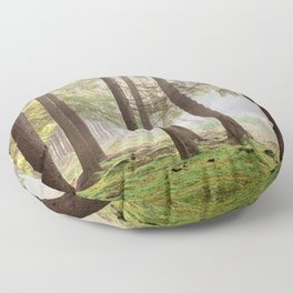 Light in the forest - North Kessock, Highlands, Scotland Floor Pillow
