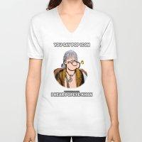 popeye V-neck T-shirts featuring POP ICON / POPEYE-KHAN 025 by Lazy Bones Studios