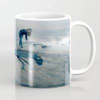 sea horse Mugs featuring Sea horse by Kestere