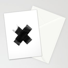The Black X  Stationery Cards