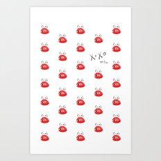 XOXO Open Toe Art Print