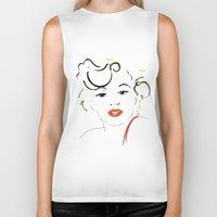 marylin monroe Biker Tanks featuring Out with Marylin by Irène Sneddon