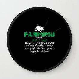 Farming Definition Wall Clock