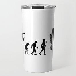 The Evolution Of Man And Rock Climbing Travel Mug