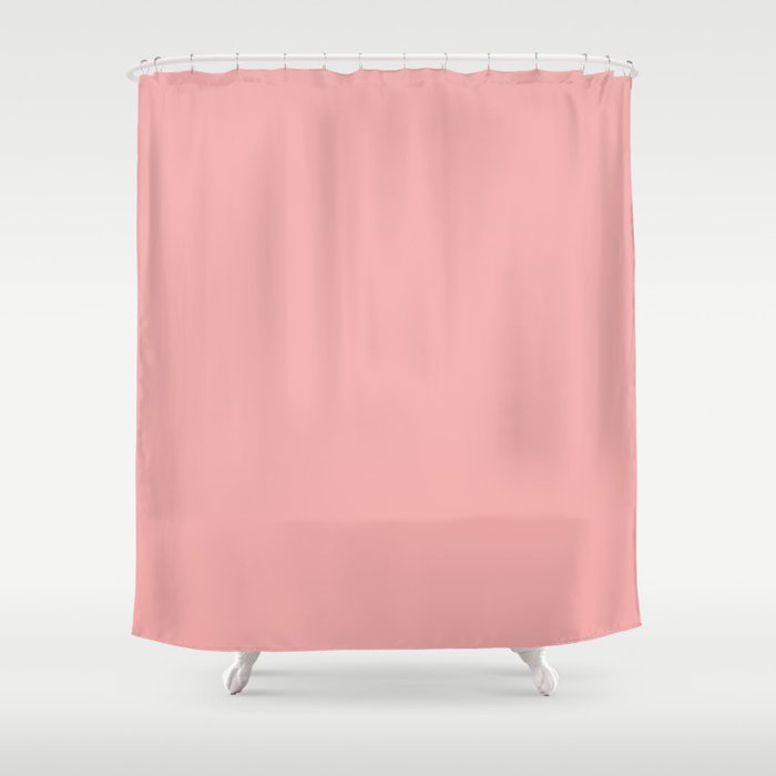 Clic Lush Blush Pink Solid Satin Color Shower Curtain By Honorandobey Society6