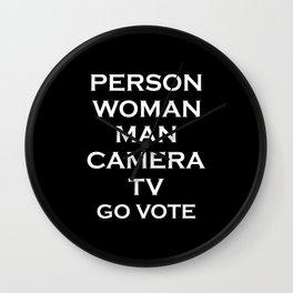 Person Woman Man Camera TV Go Vote Wall Clock
