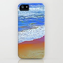"""""""Waves Of Rincon Beach #2"""" with poem: Enduring Ocean iPhone Case"""