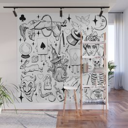 Antique Magic Starter Pack Black and White Wall Mural