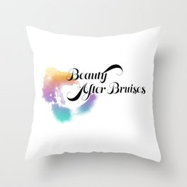Beauty After Bruises (Black) Throw Pillow