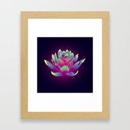 Lotus Vibes Framed Art Print