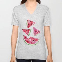Watermelon Slice Unisex V-Neck