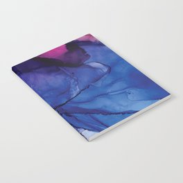 Pondering- Blue and Blush- Alcohol Ink Painting Notebook