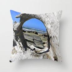 Window to the Sea Throw Pillow