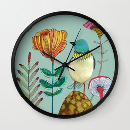 my heart of gold Wall Clock
