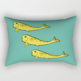 Yellow Fish Rectangular Pillow