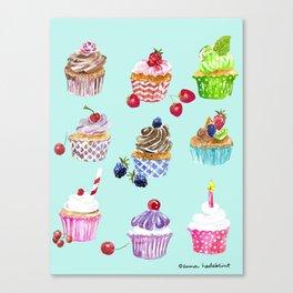 Cupcake Parade Canvas Print