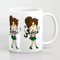 sailor jupiter Mugs featuring Sailor Scout Sailor Jupiter by Space Bat designs