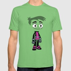 Beast Boy Grass X-LARGE Mens Fitted Tee