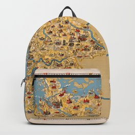 Map Of Germany 1935 Backpack