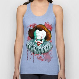 The Dancing Clown - Pennywise IT - Vector - Stephen King Character Unisex Tank Top