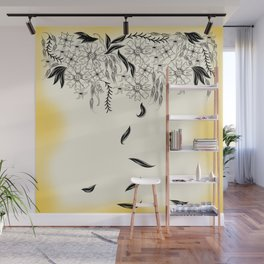 Hanging Floral Wall Mural