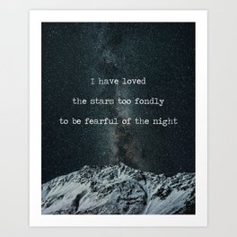 Galileo Galilei Quote on Stars Art Print