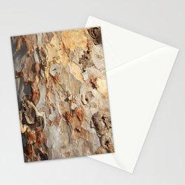 Eucalyptus Tree Peeling Bark Abstract Stationery Cards